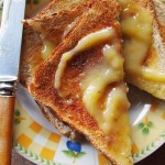 Toast and lemon curd