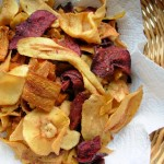 Beetroot, Carrot and Parsnip Crisps (Chips)