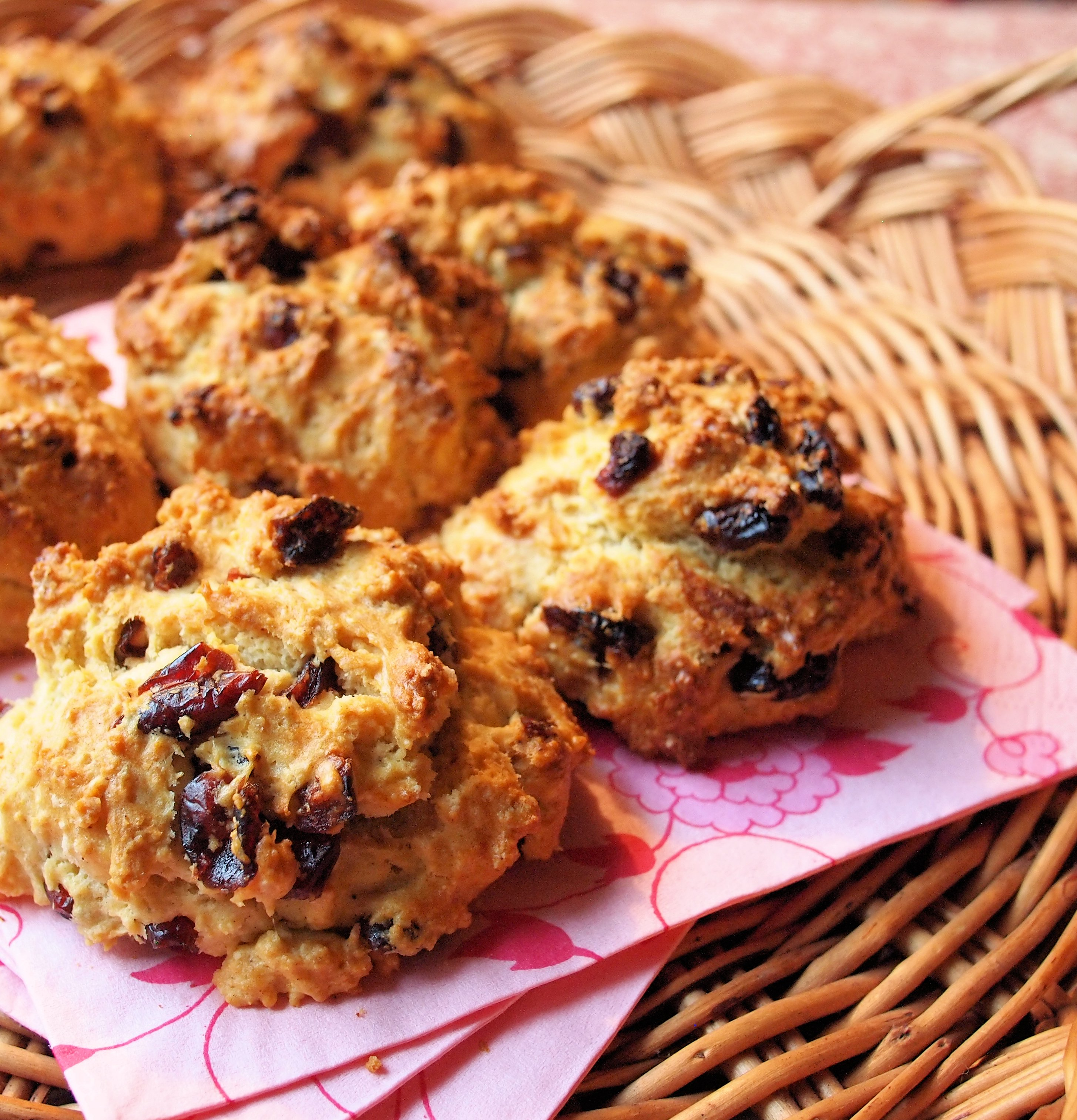 Not so Naughty Cranberry Rock Cakes/Buns for a Healthy Baking Challenge