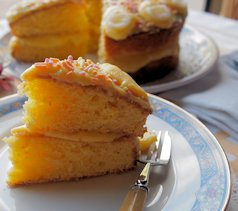Fresh Orange Cake with Citrus Buttercream