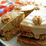 Maple Walnut Layer Cake With Fudge Frosting