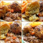 A Winter's Walk Beef and Carrot Stew With Herb Crusted Dumplings