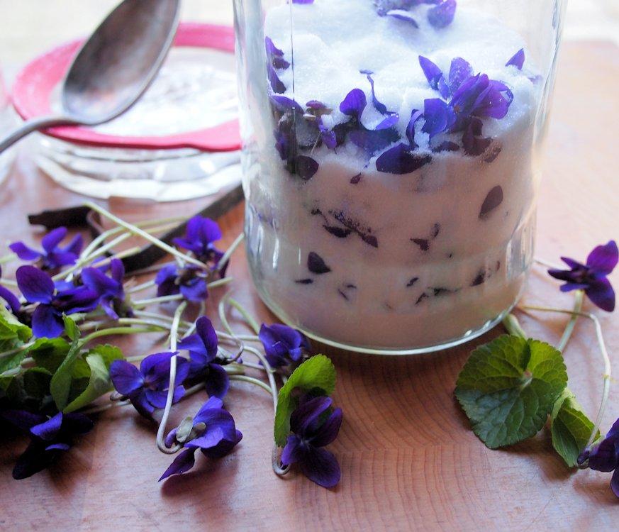 Violet syrup cake recipe