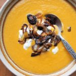Spiced Red Lentil & Carrot Soup with Frazzled Onions