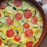 Mixed Courgette and Cherry Tomato Clafoutis with Cheese