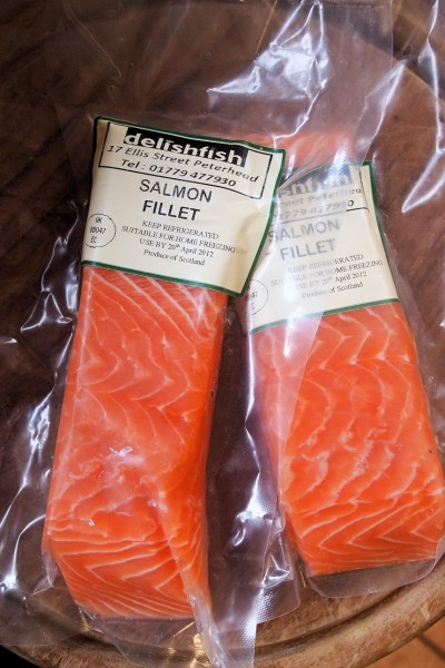 Ready to cook Salmon Fillets