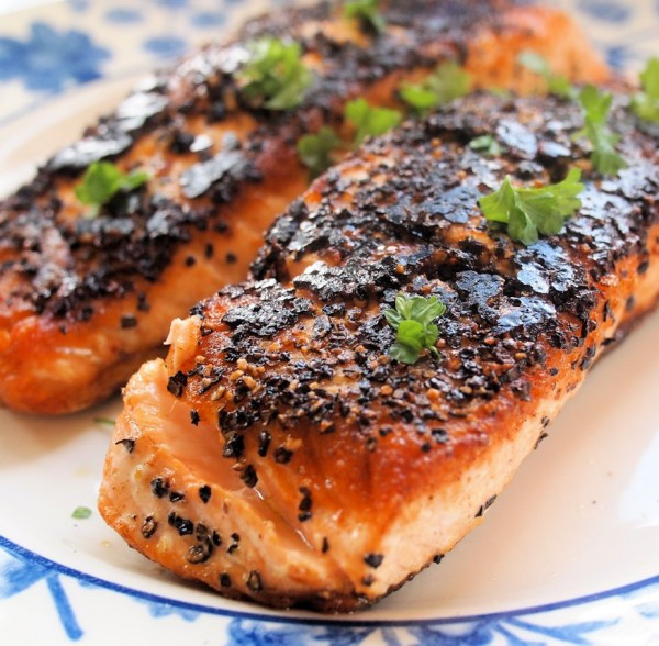 Chilli and Garlic Blackened Salmon