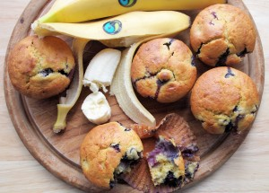 Honey, Banana & Blueberry Breakfast Buns