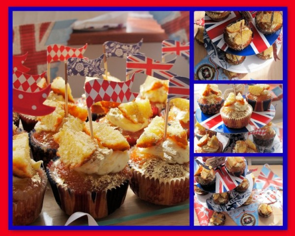 Jubilee Bake Off - Royal Elderflower & Lemon Curd Butterfly Cakes