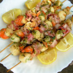 Herb Marinated BBQ Scallop & Bacon Skewers (Kebabs)