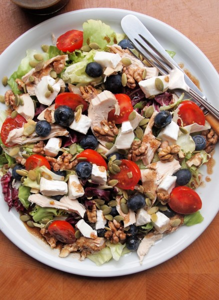 Roast Chicken Salad With Peaches, Goat Cheese & Pecans ...