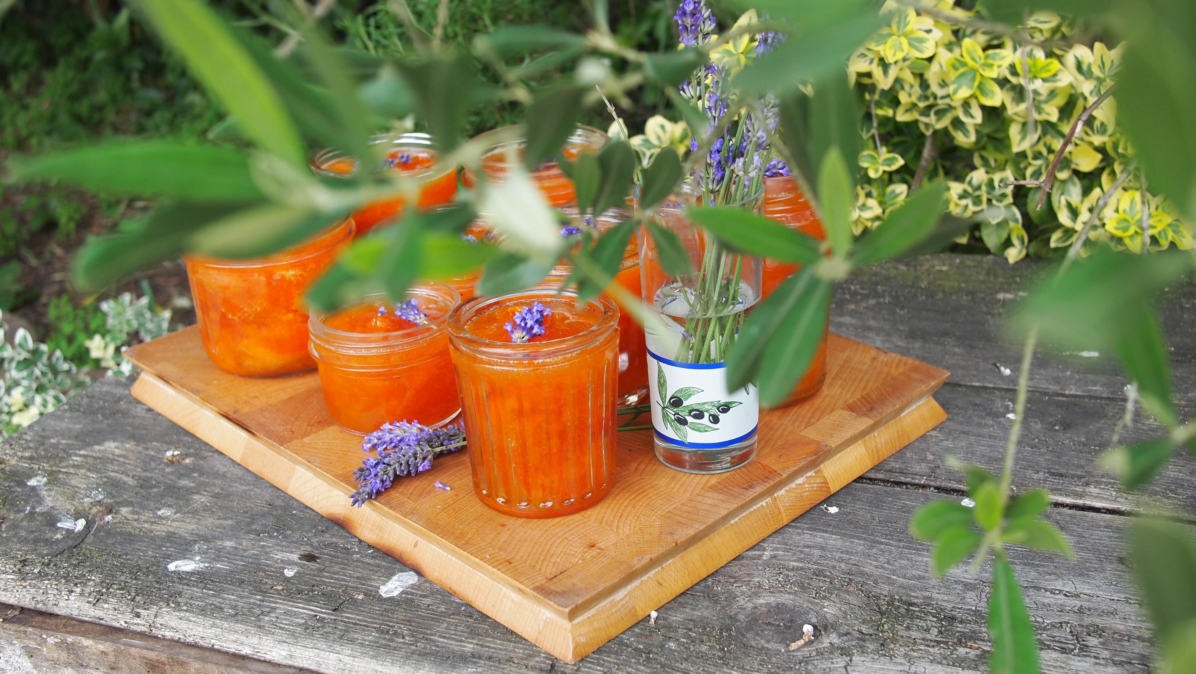 ... Summer Preserve ~ French Set Apricot and Lavender Jam (Confiture