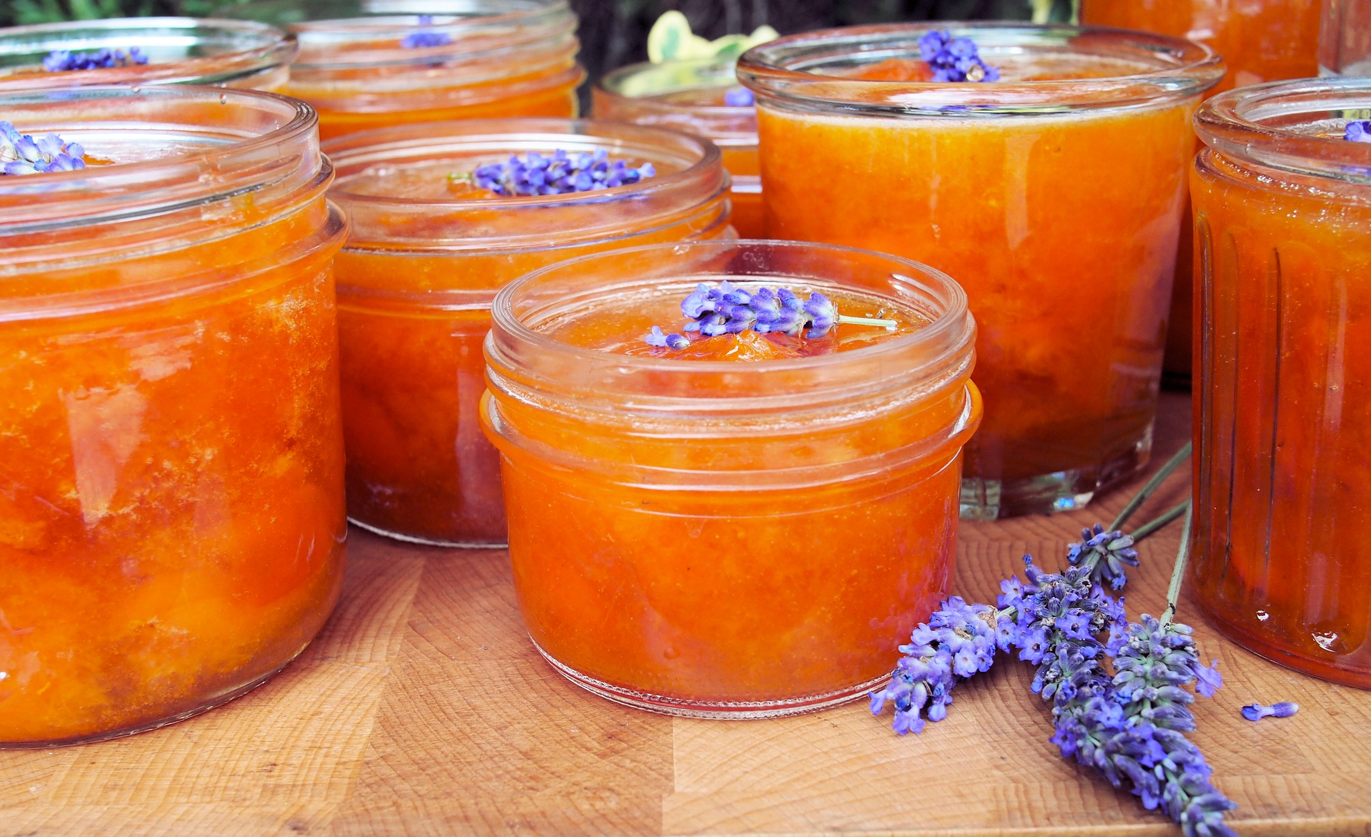 French Set Apricot and Lavender Jam (Confiture) - Lavender and Lovage