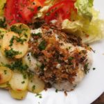 Lemon, Parmesan and Herb Crusted Hake
