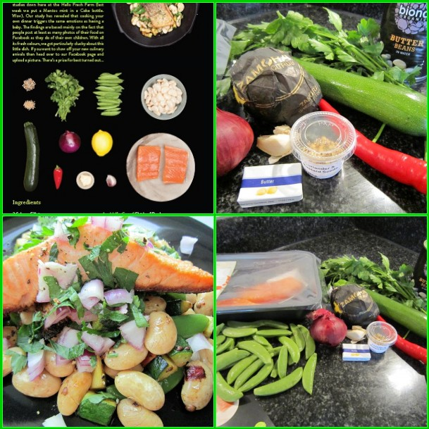 Courgette and Butterbean Salad with Pan-Fried Salmon,