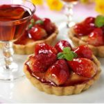 Strawberry Tarts with Dessert Wine