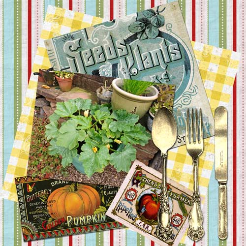 Janice Serial Crafter & Studio Sherrie JD and the digi-kit: Kitschy Kitchen