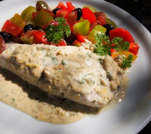 Middle Eastern Tahini and Lemon Baked Fish