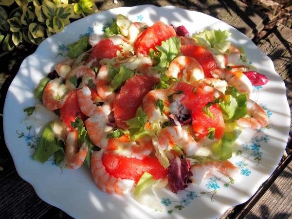 Pink Grapefruit and Prawn Salad (5:2 and Weight Watchers)