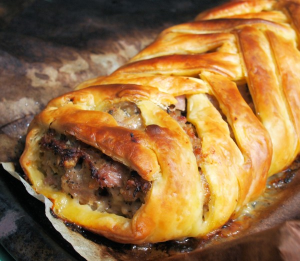 Sausage Plait with Sage and Onion