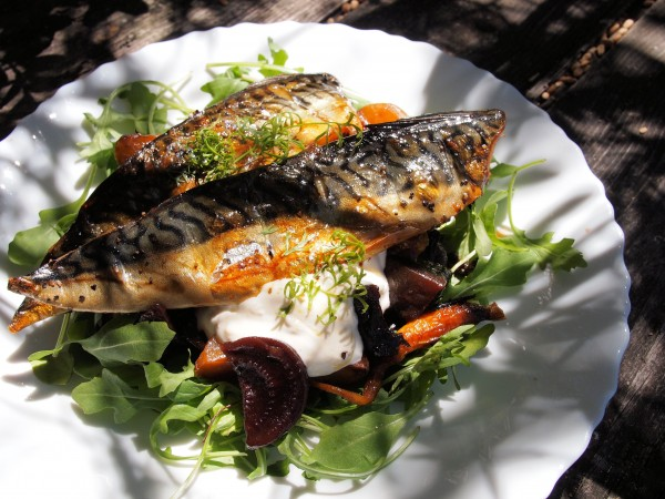 Smoked Mackerel with Hot Beetroot and Horseradish Cream