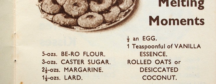 Sepia Saturday: Eighty Years of Baking with Be-Ro – Melting Moments (Biscuits/Cookies)