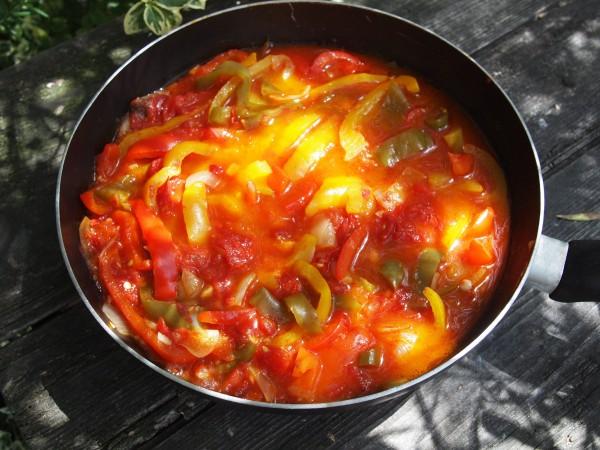 Peperonata ~ Rustic Italian Pepper Stew Recipe