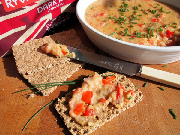 5:2 Diet - A Fabulous Vegetarian Red Pepper, Lentil and Cheese Pâté (Spread) Recipe