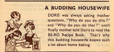 Doris from the 6th Edition Be-Ro Cookbook