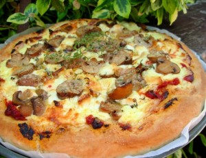 Mushroom and Goat's Cheese Pizza