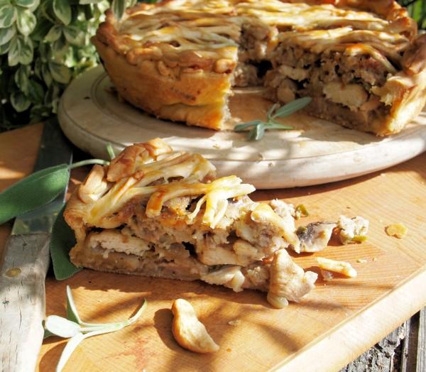 Chicken, Sausage and Mushroom Pie