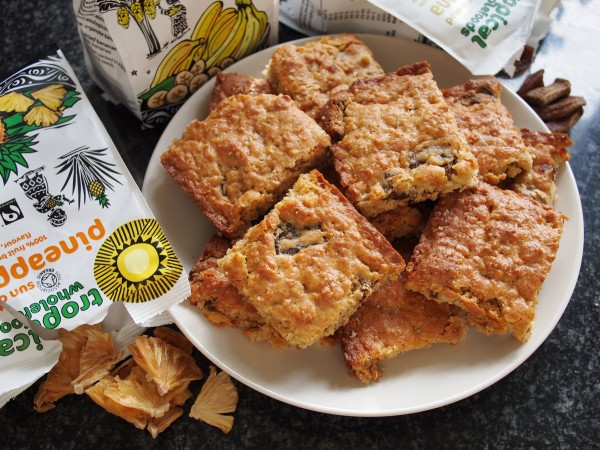 Organic September, The Big Fair Bake, Tropical Wholefoods: Tropical Fruit Flapjack Slices for a Tea Time Treat!