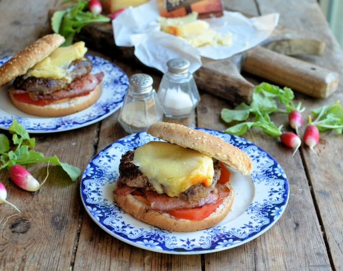 Best of British Beef Burgers with Applewood® Cheese and Bacon