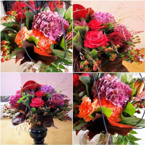 Hand Tied and Vase Arrangement