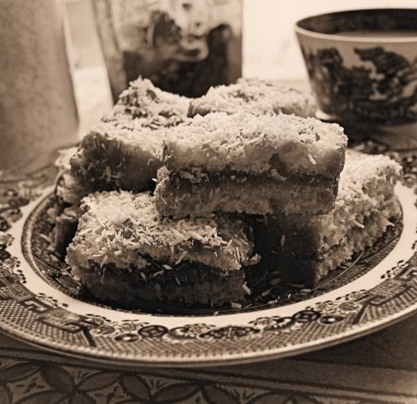 Rich Jam and Coconut Cake Recipe