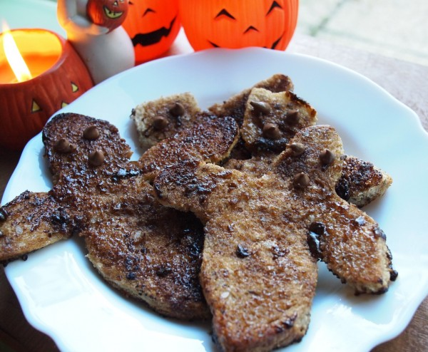 Ghoulish Ghostly Cinnamon Toast for Halloween!