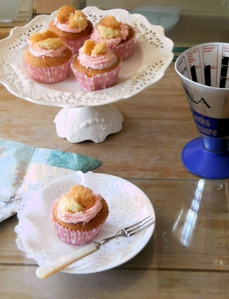 Strawberry Iced Butterfly Fairy Cakes