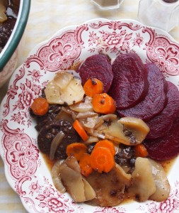 Black Pudding Hot-Pot with Cooked Beetroot