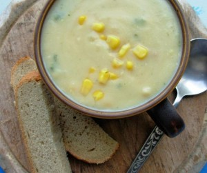 Chicken Corn Chowder - My way! Liquidised in my Kenwood Blender