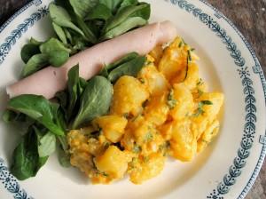 Coronation Potato Salad with WW Chicken Roll