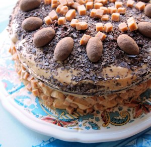 Salted Caramel and Chocolate Fudge Birthday Cake