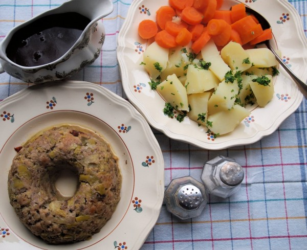 Sausage Roll with Carrots and Parsley Potatoes