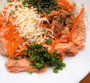 Creamy Salmon and Orange Pasta Ingredients