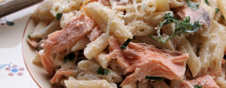 Creamy Salmon and Orange Pasta with Mixed Herbs Recipe