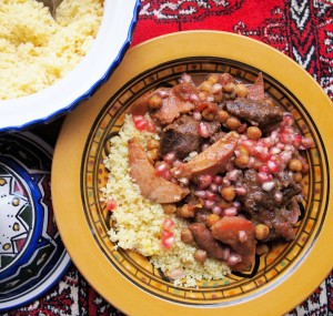 Aromatic Beef and Quince Tagine with Pomegranate