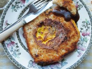 Egg in a Nest - Mock Fried Egg