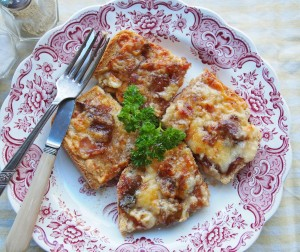 Cheese and Chutney on Toast