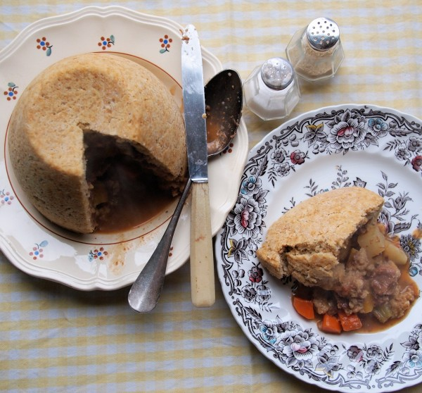 The Wartime Kitchen, Day Five and Scottish Vegetable & Meat Pudding Recipe