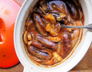 Sausage and Apple Casserole in Cider