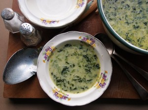 Leftovers of Nettle and Watercress Soup